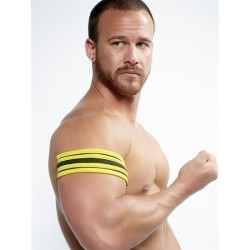 Mister B Neoprene Biceps Band Black Yellow banda in neoprene per bicipiti