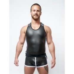 Mister B Neoprene Tank Top Black White canotta in neoprene