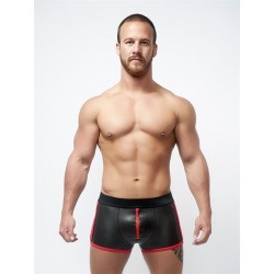Mister B Neoprene Pouch Shorts Black Red calzoncini in neoprene con zip