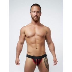Mister B Neoprene Jockstrap Black Red jockstrap sospensorio in neoprene