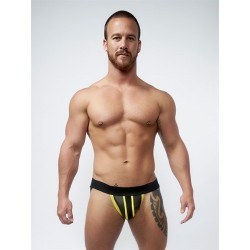 Mister B Neoprene Jockstrap Black Yellow jockstrap sospensorio in neoprene