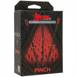 Kink Pinch Silicone Nipple & Clit Tweezer Clips Black Metal S toys pinze tortura capezzoli regolabili metallo e silicone