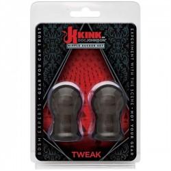 Kink Tweak Nipple Sucker Set Black toys coppia di sviluppa capezzoli in gomma