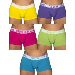 Rounderbum Bright Lift My Day 5 Pack Underwear Multicolor offerta confezione di 5 boxer calzoncini intimo uomo