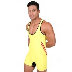 Pistol Pete Teammate Wrestling Singlet Body Yellow tuta sportiva