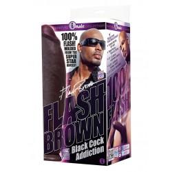 Flash Brown Signature Cock dildo XL fallo realistico nero