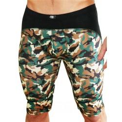 GB2 Lanz Training Trunk Underwear Camo Black mutande lunghe sportive intimo uomo
