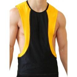 GB2 Arnold Training Muscle Tank Top Black Yellow smanicata maglietta