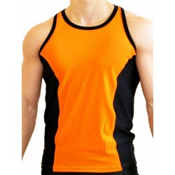 GB2 Aron Training Tank Top Orange Black canotta spalla scoperta