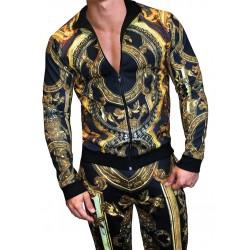 Danny Miami Temple Tracksuit Multi tuta fashion con pantalone e giubbotto