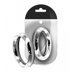 Bon4 Stainless Steel Donut Ring 40 mm. cockring in acciaio inox di varie misure