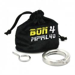 BON4 Lockable Cock Ring 40 mm. cockring in acciaio inox chiusura con chiavetta