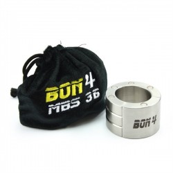 BON4 Stackable Magnetic Ball Stretcher 36 mm. 385 gr. Ø 37 stringi testicoli in acciaio inox chiusura magnetica