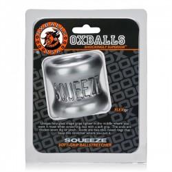 Oxballs Squeeze Ballstretcher Steel ball stretcher TPR colore acciaio estensibile