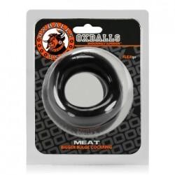 Oxballs Meat Bigger Bulge Cock Ring Black cocking in TPR nero