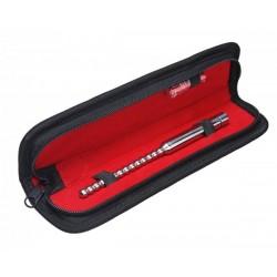 Black Label The Beaded Steel Vibrating Sound 190 mm. x 5 - 7 mm. sonda uretrale vibrante in acciaio inox