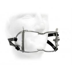 Black Label Whitehead Ratchet Mouth Gag With Leather Strap bavaglio per restrizione regolabile