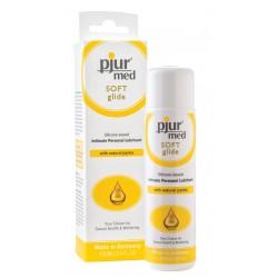 Pjur Med Soft Glide Sb 100 Ml. lubrificante intimo a base di silicone per la mucosa molto secca e sensibile.