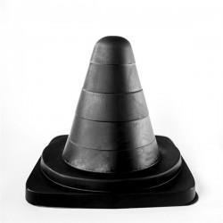 All Black Traffic Cone 19 cm. [AB68] dildo cono spartitraffico nero