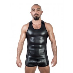 Mister B Neoprene Tank Top Black canotta in neoprene