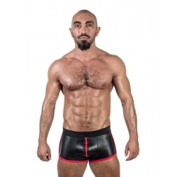 Mister B Neoprene Shorts 3 Way Full Zip Black Red calzoncini in neoprene con zip