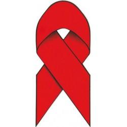 Sticker Red Ribbon 5,5 x 13 cm. (12 pz.) adesivi fiocco rosso