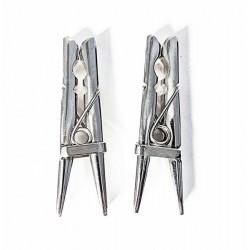 Black Label Stainless Steel Clothespins coppia di pinze tortura capezzoli per giochi s/m