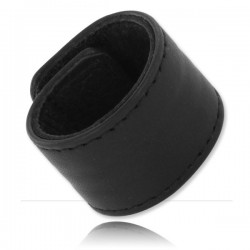 Black Label Velcro Leather Ball Stretcher 25 mm. Wide per testicoli in pelle
