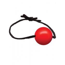 Black Label Gag With Leather Strings Silicone Ball Ø 50 mm. Red bavaglio con sfera rosso per s/m bondage