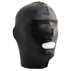 Mister B Datex Hood Mouth Open Only maschera cappuccio in materiale datex