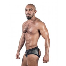 Mister B Neoprene Jock Brief Black slip sospensori in neoprene