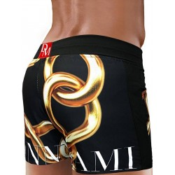 Danny Miami Links Beach Shorts Black boxer calzoncini costume da bagno