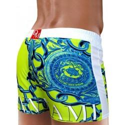 Danny Miami Lord Beach Shorts Lime boxer calzoncini costume da bagno