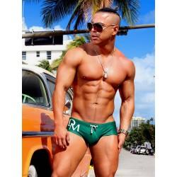 Danny Miami Olympia Trunk Swimwear Green slip costume da bagno