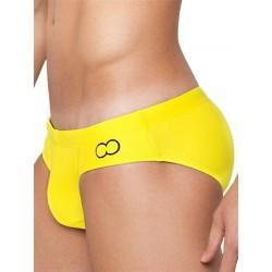 2Eros Core Swimwear Yellow slip costume da bagno a vita bassa