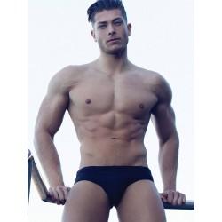 2Eros Core Swimwear Black slip costume da bagno a vita bassa