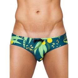 Eros Australian Flora Swimwear Acacia slip costume da bagno