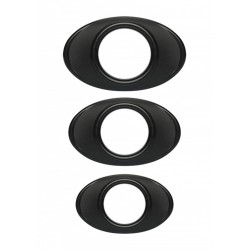 OptiMALE Easy Grip C Ring Set confezione con 3 cockrings di diametri differenti in silicone nero