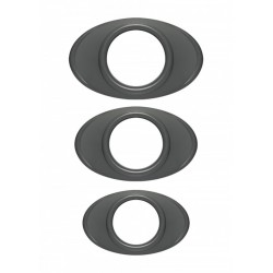 OptiMALE Easy Grip C Ring Set confezione con 3 cockrings di diametri differenti in silicone grigio