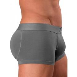 Rounderbum Colors Padded Boxer Trunk Underwear Grey boxer calzoncini imbottiti dietro grigio intimo uomo