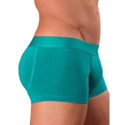 Rounderbum Colors Padded Boxer Trunk Underwear Green boxer calzoncini imbottiti dietro verde intimo uomo