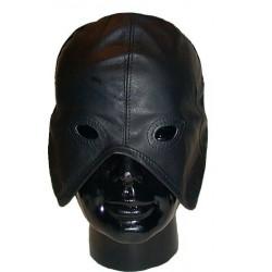 Mister B Leather Slave Hood maschera con fori per occhi in leather pelle chiusura sul reto con lacci