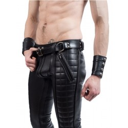Mister B Leather Handcuff Belt cintura in pelle per pantaloni usabile anche come legamento per polsi