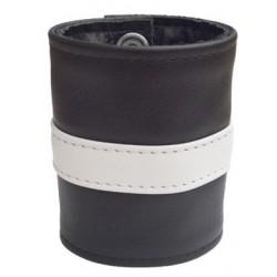 Mister B Wrist Wallet Zip White Striped bracciale per polso con portafoglio interno con zip