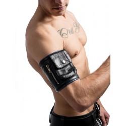 Mister B Leather Party Wallet Blue portafoglio leather pelle si avvolge attorno al braccio