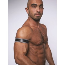 Mister B Leather Biceps Band Black Grey bracciale per avambraccio leather pelle