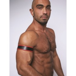 Mister B Leather Biceps Band Black Red bracciale per avambraccio leather pelle