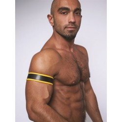 Mister B Leather Biceps Band Black Yellow bracciale per avambraccio leather pelle