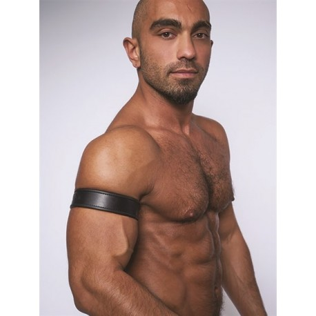 Mister B Leather Biceps Band Black Black bracciale per avambraccio leather pelle
