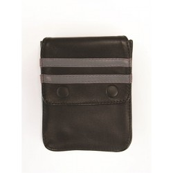 Mister B Leather Wallet for Harness Black Grey portafoglio per harness o per bracciale bicipite